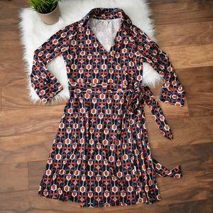 Diane Von Furstenberg Patterned Wrap Dress